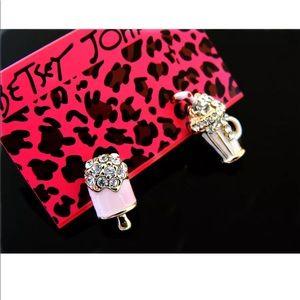 Jewelry - Crystal Ice Cream and Milkshake Earrings
